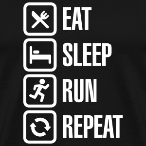 Eat sleep run repeat T-Shirts - Männer Premium T-Shirt