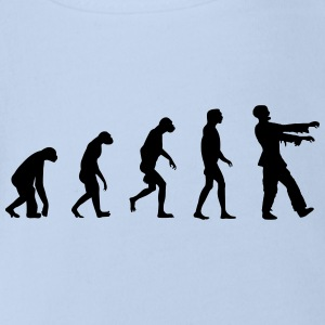 Evolution of Zombies  Shirts - Organic Short-sleeved Baby Bodysuit