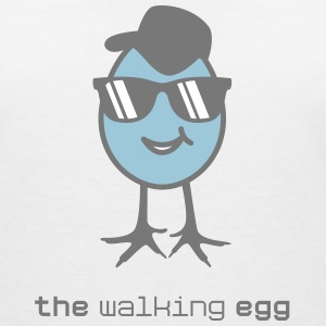 walking egg with sunglasses T-Shirts - Women's V-Neck T-Shirt