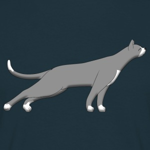 Cat stretches S T-shirts - T-shirt herr