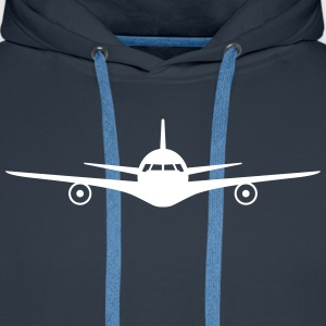 Jet plane Sweat-shirts - Sweat-shirt à capuche Premium pour hommes