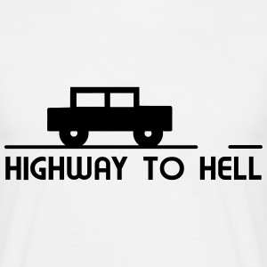 Car - Highway to hell T-Shirts - Men's T-Shirt