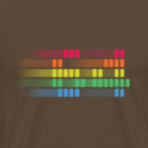 pixel rainbow stripes 64 T-skjorter - Premium T-skjorte for menn