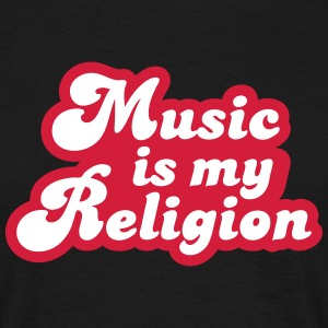 Music is my Religion T-shirts - Herre-T-shirt