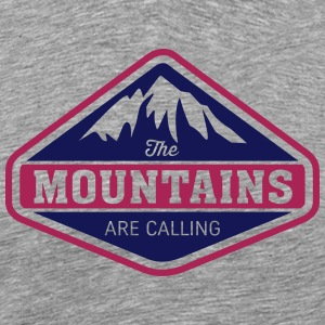 THE MOUNTAINS ARE CALLING T-Shirts - Männer Premium T-Shirt