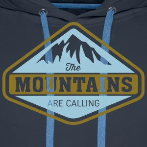 THE MOUNTAINS ARE CALLING Pullover & Hoodies - Männer Premium Hoodie
