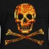 Skull, Fire, pirate, digital, crystal skulls, fire, flame, pirates flag Hoodies & Sweatshirts - Women's Boat Neck Long Sleeve Top