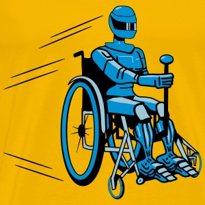 Cool funny robot wheelchair funny T-Shirts - Men's Premium T-Shirt