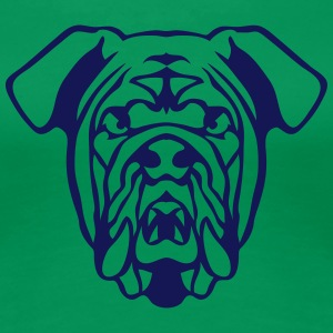 wildes Tier Bulldog Hund 602 T-Shirts - Frauen Premium T-Shirt