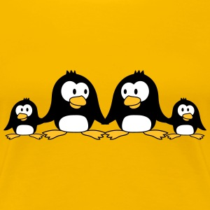 Sweet Penguin family children parents mom dad T-Shirts - Women's Premium T-Shirt