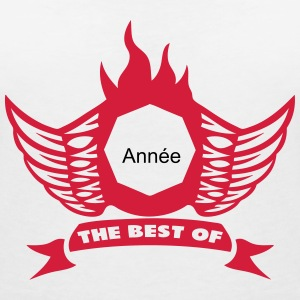 ajouter annee best of logo anniversaire Tee shirts - T-shirt col V Femme