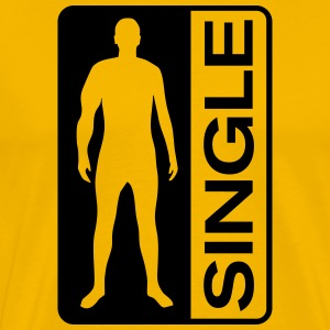 Single Man T-shirts - Herre premium T-shirt