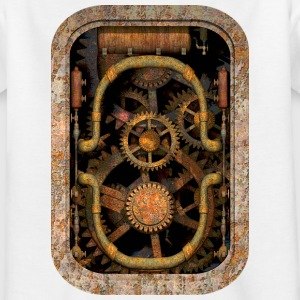 Rusty and Grungy Steampunk Machinery T-Shirt - Teenager-T-shirt