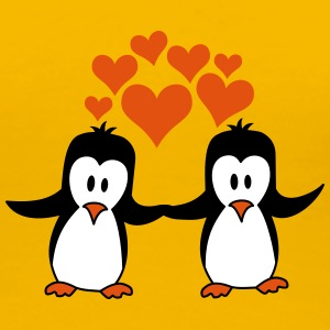 Love couple love penguins T-Shirts - Women's Premium T-Shirt