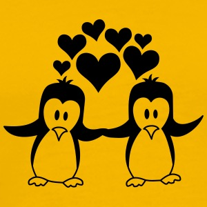 Love couple love penguins T-Shirts - Men's Premium T-Shirt