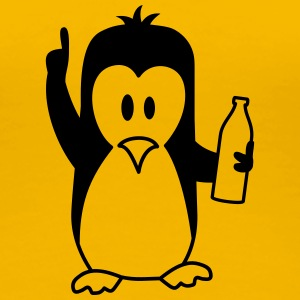 Betrunken Saufen Party Bier Pinguin T-Shirts - Frauen Premium T-Shirt