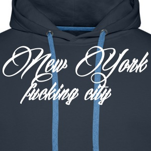 New York Fucking City Bluzy - Bluza męska Premium z kapturem