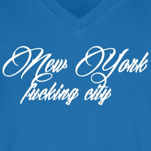 New York Fucking City T-skjorter - T-skjorte med V-utsnitt for menn