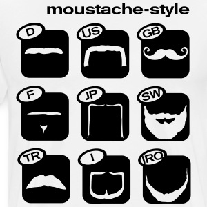 Moustache Worldwide Style  T-Shirts - Men's Premium T-Shirt