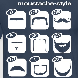 Moustache Worldwide Style  T-shirts - Herre premium T-shirt