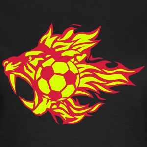 Fussball Feuer Flamme Tiger Tier-Logo T-Shirts - Frauen T-Shirt