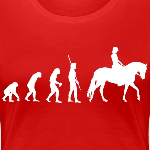 Evolution horse woman T-Shirts - Women's Premium T-Shirt