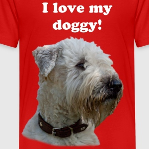 I love my doggy - Soft Coated Wheaten Terrier - Teenager Premium T-Shirt