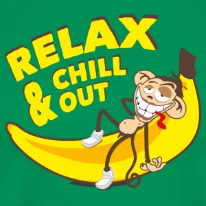 Relax and chill out | Monkey on Banana T-Shirts - Men's Premium T-Shirt