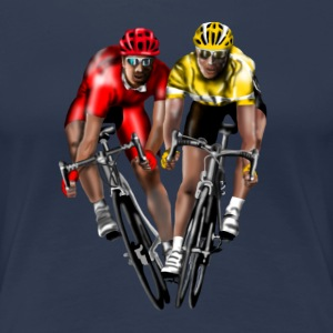 racing bicycle Camisetas - Camiseta premium mujer