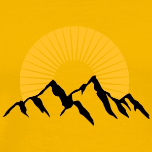 Beautiful mountains with Sun T-Shirts - Men's Premium T-Shirt