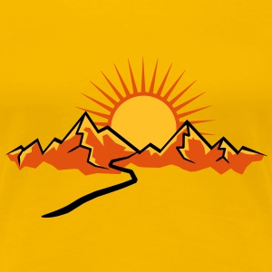 Mountain hiking trail and Sun T-Shirts - Women's Premium T-Shirt