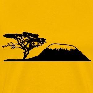 Africa tree mountain Kilimanjaro T-Shirts - Men's Premium T-Shirt