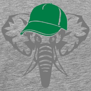 elephant animal sauvage casquette 0 Tee shirts - T-shirt Premium Homme
