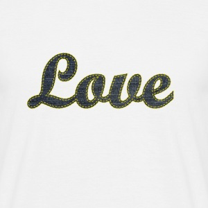 Love T-Shirt Stich Jeans - Männer T-Shirt