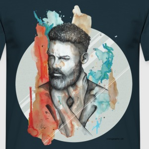 Navy Raphael by carographic T-Shirts - Men's T-Shirt