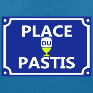 place pastis plaque rue 1 Tee shirts - T-shirt col V Femme
