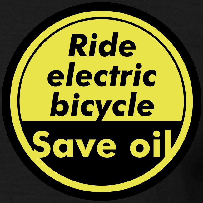 Ride electric bicycle - Save oil - 1   © by TOSKIO-VTMS
