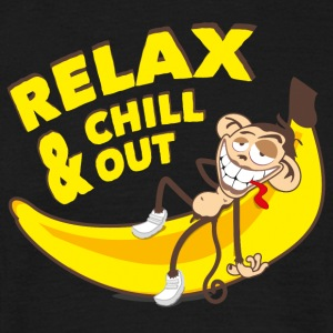 Relax and chill out | Monkey on Banana T-Shirts - Men's T-Shirt