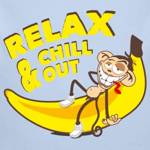 Relax & chill out | Affe auf Banane - Baby Bio-Langarm-Body