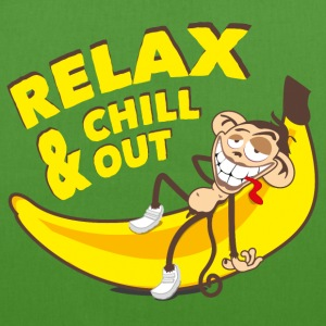 Relax and chill out | Monkey on Banana Bags & Backpacks - EarthPositive Tote Bag