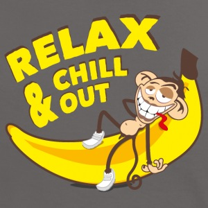 Relax & chill out | Affe auf Banane - Frauen Kontrast-T-Shirt
