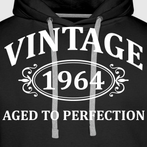 Vintage 1964 Aged to Perfection Hoodies & Sweatshirts - Men's Premium Hoodie
