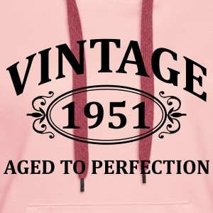 vintage 1951 aged to perfection Hoodies & Sweatshirts - Women's Premium Hoodie