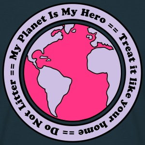 My Planet is my Hero T-shirts - Mannen T-shirt