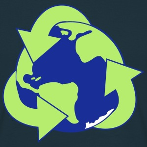 Planet Reduce Reuse Recycle T-shirts - Mannen T-shirt