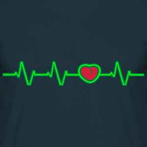 Heartbeat Heart T-Shirts - Men's T-Shirt