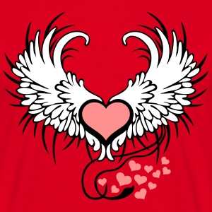 Angel Wings Heart T-skjorter - T-skjorte for menn