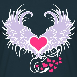 Angel Wings Heart T-shirts - Herre-T-shirt