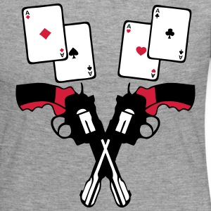 poker pistoler carre as carte revolver 2 Tee shirts manches longues - T-shirt manches longues Premium Femme