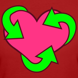 Heart Recycle T-shirts - Vrouwen Bio-T-shirt
